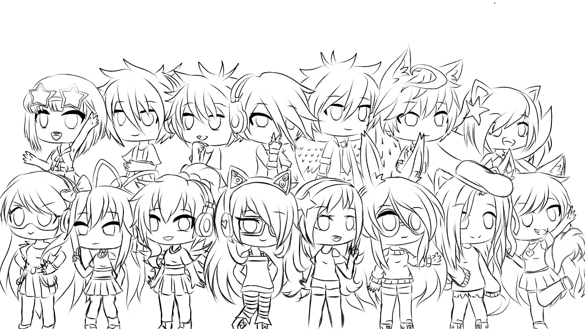 Now you can see all of my Ocs. <br /> Yep, these are all mine.